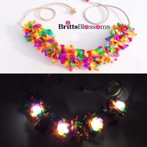 Accessories - Rainbow Rose Blossom with 4 white LED lights